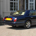 Yorkshire Wedding Cars - Bentley Arnage RL, rear 3/4 view. Based near Harrogate, North Yorkshire.