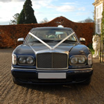 Yorkshire Wedding Cars - Bentley Arnage RL, front view. Based near Harrogate, North Yorkshire.